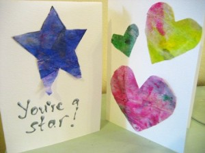 Tissue Paper Painting and Card Making