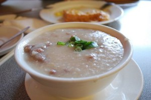 Cantonese chicken soup called Jook