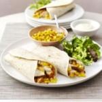 Cajun Chicken and Greek Salad Wraps