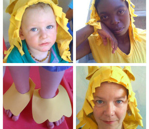 Make an animal costume from a t-shirt