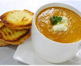Slightly tangy butternut soup
