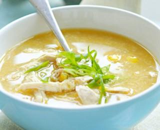 Easy delicious corn & chicken soup recipe