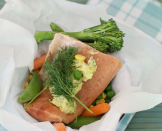 Fish parcels and herb butter