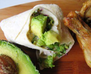 Lunchbox ideas: Chicken & Avo wraps